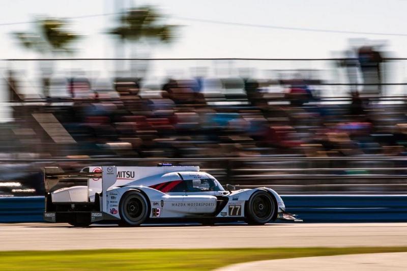 Olivier Pla tampil melesat bersama Mazda RT24-P di Sirkuit Daytona Speedway, Amerika Serikat (ist)