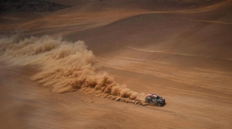 Rally Dakar 2020, hari ini memasuki medan pasir Gurun Sahara. (Foto: arabnews)