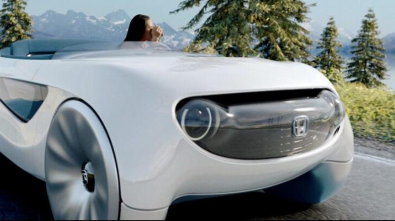 Honda tampilkan konsep berkendara baru dengan teknologi augmented drive di ajang Consumer Electronics Show 2020