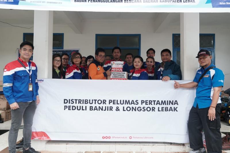 PT Pertamina Lubricants salurkan bantuan untuk korban banjir di Lebak, Bantenb