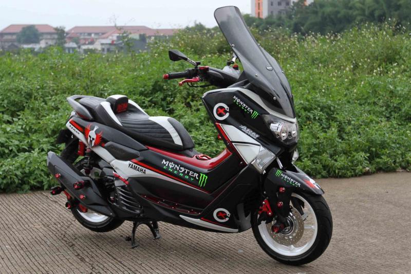 Modifikasi Yamaha NMAX: Livery MotoGP Sehari Jadi