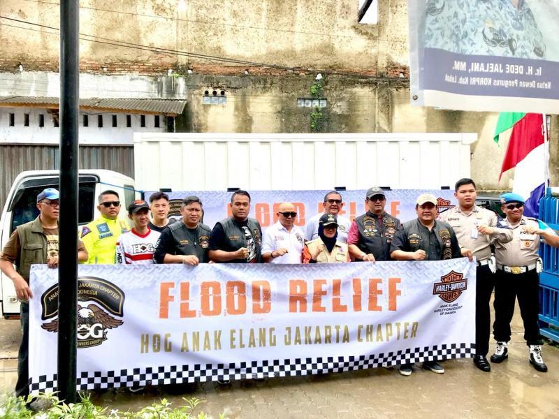 Komunitas Harley-Davidson Beri Bantuan Untuk Korban Banjir