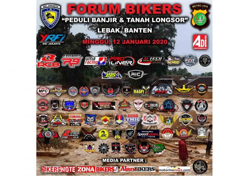 Peduli Bencana Banjir Lebak Banten, Forum Komunitas Bikers Jabodetabek Galang Bantuan Dan Donasi