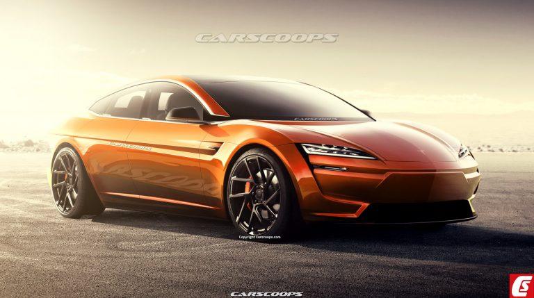 Render Tesla Model S generasi terbaru hasil karya Josh Byrnes (foto: carscoops)