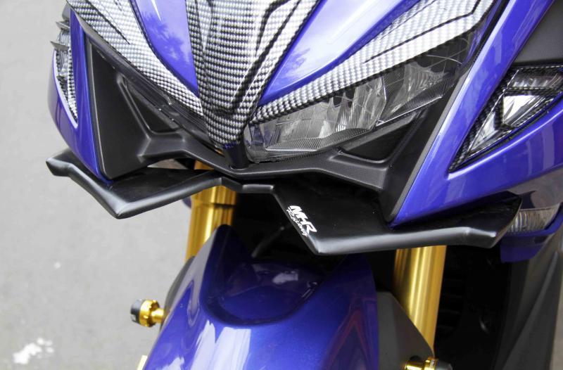 Pasang Winglet MHR, Yamaha Aerox 155VVA Tampil Makin Sporti