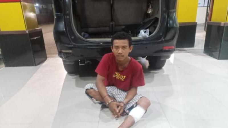 Tersangka pencuri sepeda motor dicokok dan dibawa ke Polsek Palu Timur, Sulawesi Tengah