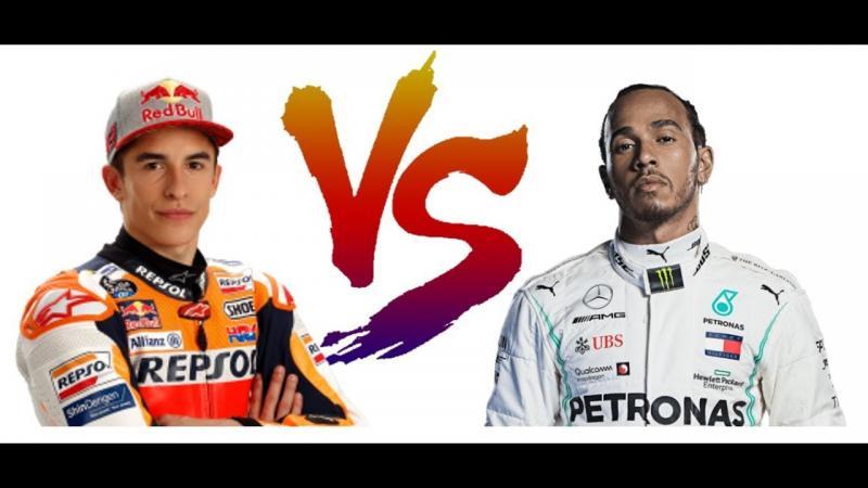 Marc Marquez dan Lewis Hamilton, wakil pembalap di ajang Laureus World Sport Awards 2020. (Foto: youtube)