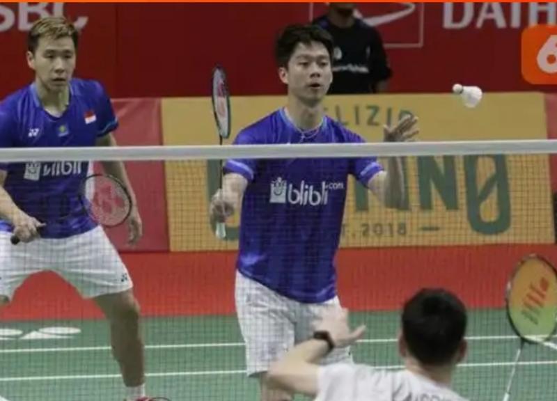 Pasangan ganda putra Marcus Gideon dan Kevin Sanjaya sabet juara 1 Daihatsu Indonesia Masters 2020