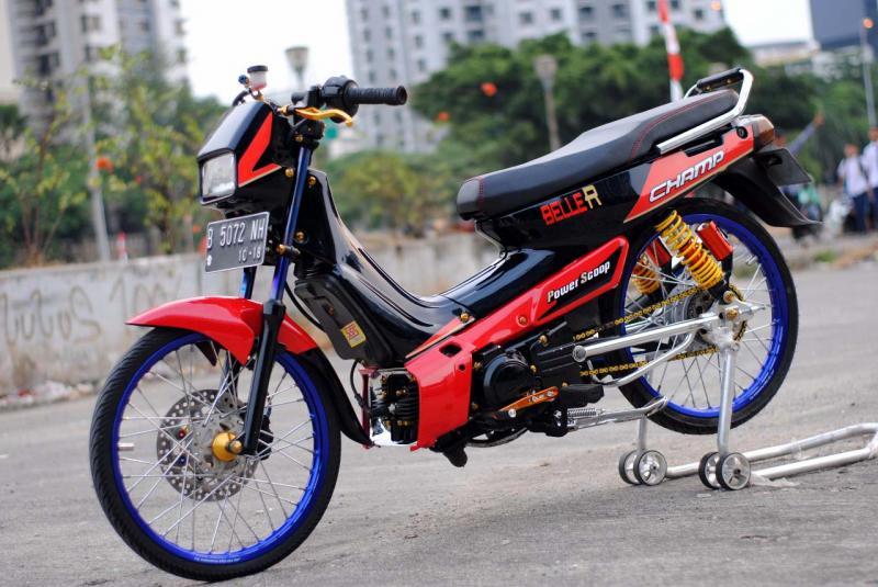 Modifikasi Yamaha Alfa Champ II Maskot Bengkel
