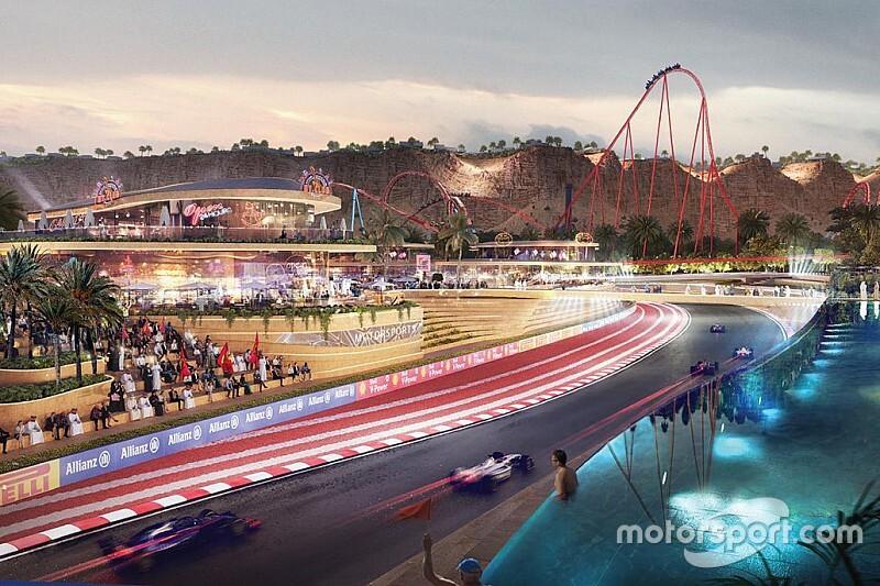 Salah satu sudut rancangan gambar Qiddiya yang bakal jadi ibukota balap dunia. (Foto: motorsport)