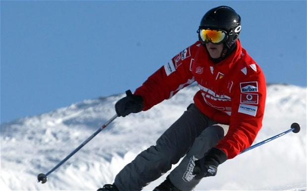 Kecelakaan ski di Pegunungan Alpen mengakhiri kehidupan normal Michael Schumacher pada 2013. (Foto: thetelegraph)