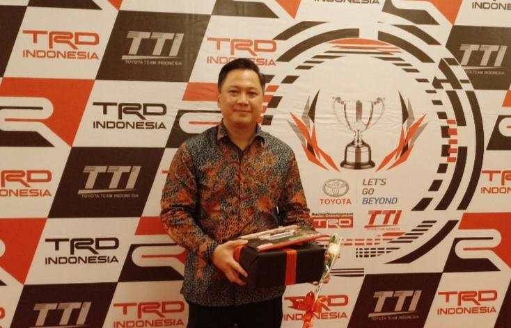 Leonard Gozali, GT Radial akan selalu support Toyota Team Indonesia. (Foto : bs)