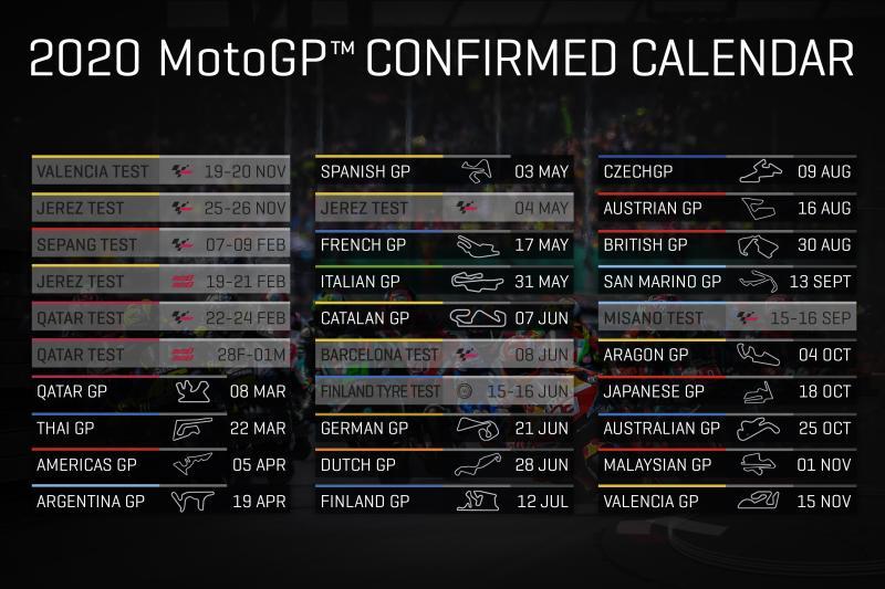 Jadwal lengkap MotoGP 2020. (Foto: motogp)