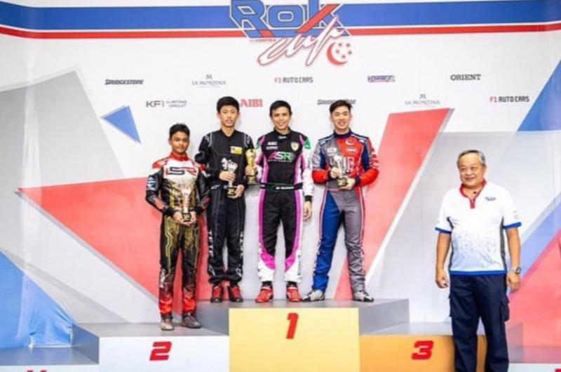 Silvano (kedua dari kiri) di podium Singapore Asia Rok Cup 2020