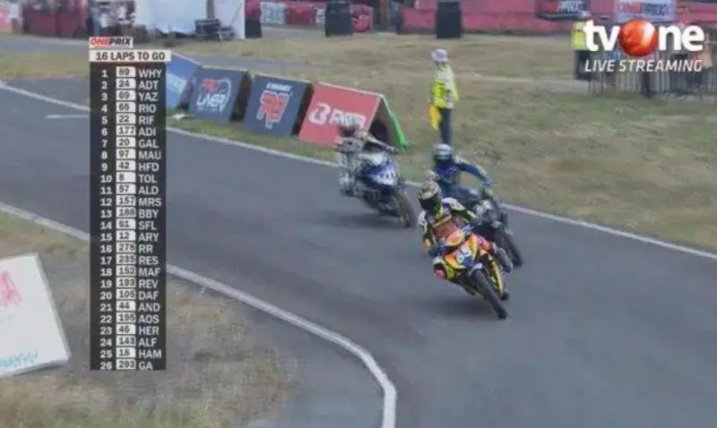 Oneprix Championship yang disiarkan langsung dan taping delay TVOne berhasil membangkitkan kembali industri motorsport. (foto : ist)