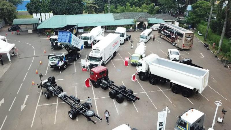 GIICOMVEC 2020 juga menyediakan area khusus untuk melihat langsung kemampuan berbagai kendaraan komersial dan fitur teknologi yang dipamerkan, yakni Demo Area. (ist)
