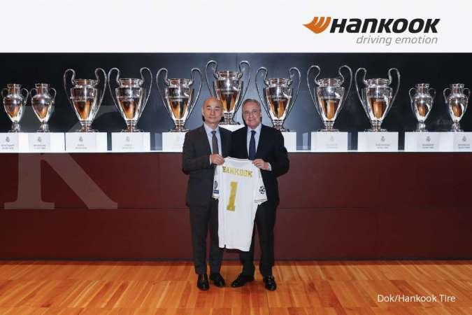 Perpanjangan kontrak ditandatangani langsung oleh Presiden Hankook Tire Eropa yang baru, Sanghoon Lee dan Presiden Real Madrid C.F., Florentino Pérez. (ist)
