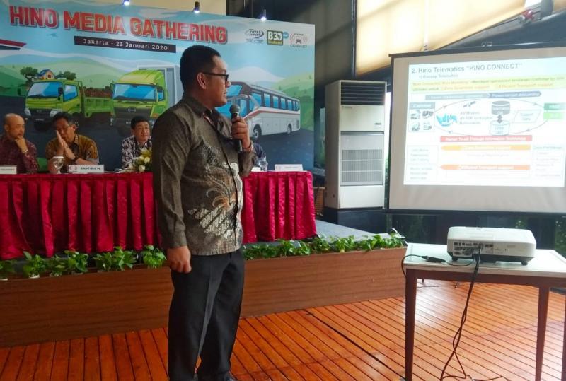 Hino Connect diperkenalkan oleh Manajemen HMSI kepada Media di Jakarta (23/1/2020).