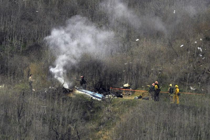 Kecelakaan helikopter yang menewaskan Kobe Bryant dan 8 orang lainnya. (Foto: bostonglobe)