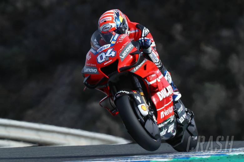 Andrea Dovizioso (Ducati) sesegera mungkin harus temukan rahasia ban belakang Michelin 2020. (Foto: crash)