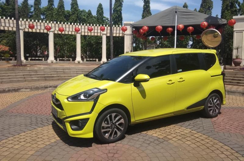 Penyegaran Toyota Sienta dihadirkan oleh PT Toyota Astra Motor untuk terus mengakomodir kebutuhan keluarga muda dinamis. (anto)