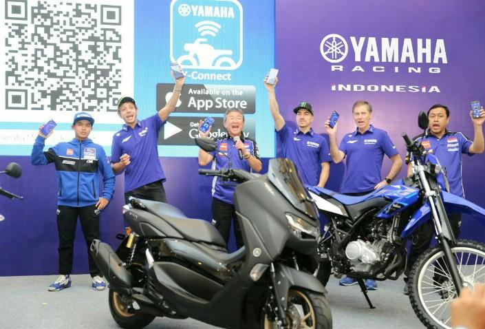 Rossi dan Vinales Saksikan launching tim Yamaha Racing Indonesia