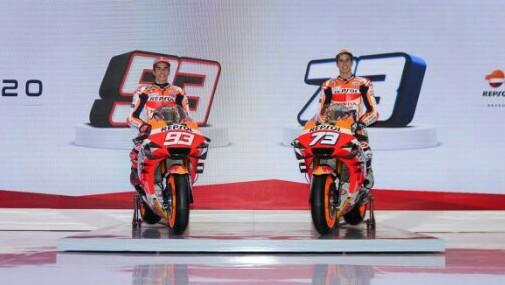 Marc dan Alex Marquez saat peluncuran tim Repsol Honda memasuki kompetisi 2020 di Jakarta.(Foto: hondaracingcorporation)