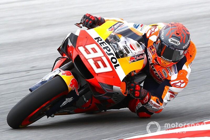 Marc Marquez (Repsol Honda) masih terganjal rasa sakit di dalam tikungan. (Foto: motorsport)