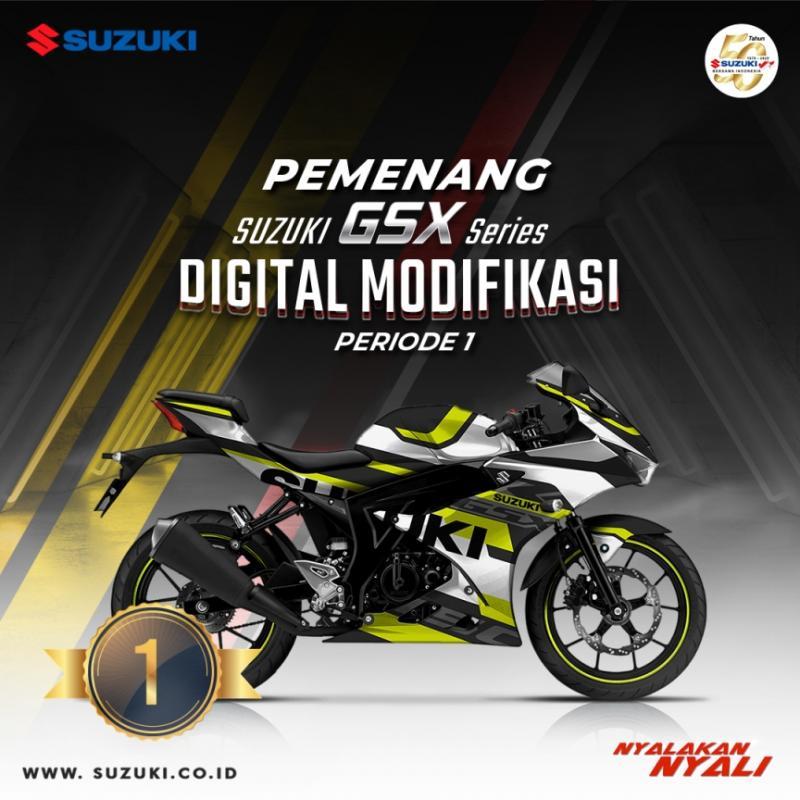 Berikut Daftar Juara Suzuki GSX Series Digital Modifikasi Periode 1