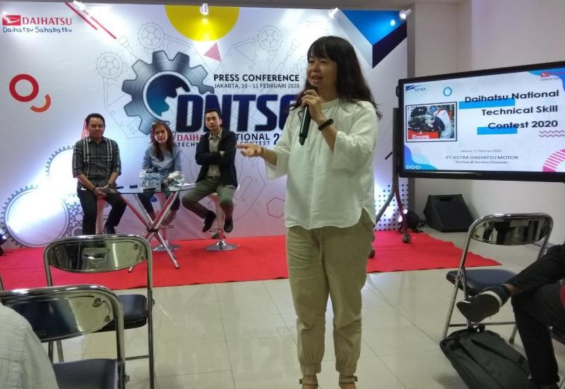 Amelia Tjandra, bersyukur di kami Daihatsu Indonesia tidak berpengaruh. (anto)