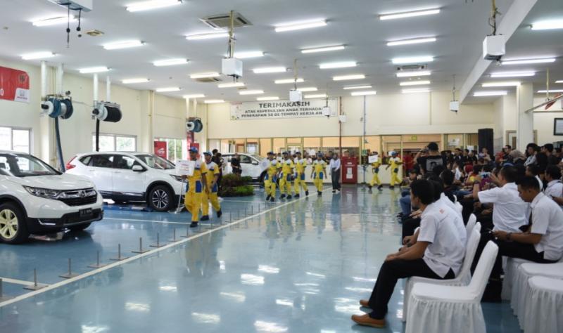 Suasana Honda Skill Contest di Honda Prospect Motor Sunter Jakarta Utara
