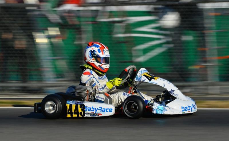 Aditya Wibowo tampil mengesankan di Winter Cup WSK Supermasters Series 2 di sirkuit South Garda Italia.