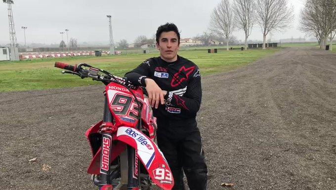 Bermain motocros kembali, bukti pemulihan kondisi fisik Marc Marquez. (Foto: marcmarquez93)