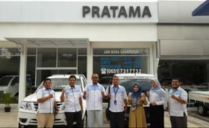 Jajaran marketing Tata Motors Aceh siap melayani kendaraan niaga. (Foto : ist)