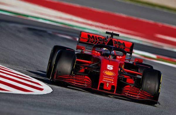 Sebastian Vettel (Ferrari) hanya satu setengah jam menguji SF1000 sebelum mogok di Sirkuit Catalunya. (Foto: gpblog)