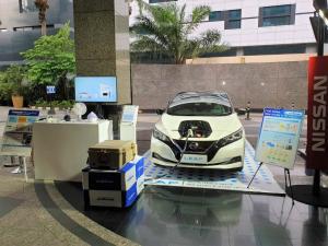 Nissan LEAF ikut memeriahkan acara pameran di Kedutaan Besar Jepang