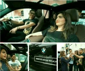 Anang Hermansyah, Ashanty, Aurel dan Azriel bersama BMW X5 xDrive40i xLine seharga Rp 1,71 miliar. (foto : youtube)