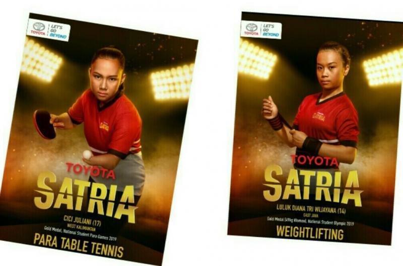 Dua dari 20 atlet muda potensial siap diorbitkan Toyota ke ajang international. (foto : tam)