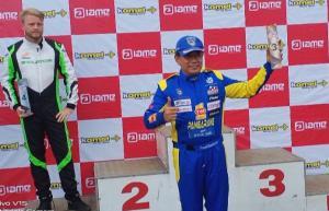 Fredi Rostiawan boyong 2 trofi di IAME Asia Series Sentul kemarin. (Foto : bs)