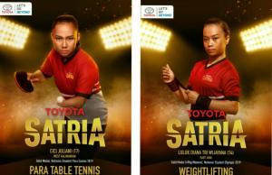 Cici Juliani (kiri) dan Luluk Diana Tri Wijayana ingin mewujudkan impian menjadi atlet besar bersama Toyota. (foto : tam, kolase)