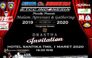 Malam Apresiasi ETCC 2019 & Gathering 2020 akan dipandu MC motorsport kondang, Ricky Sitompul