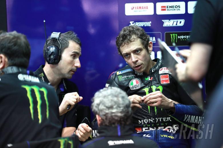 Penyesalan Valentino Rossi (Italia/Yamaha), gagal main di Losail. (Foto: crash)