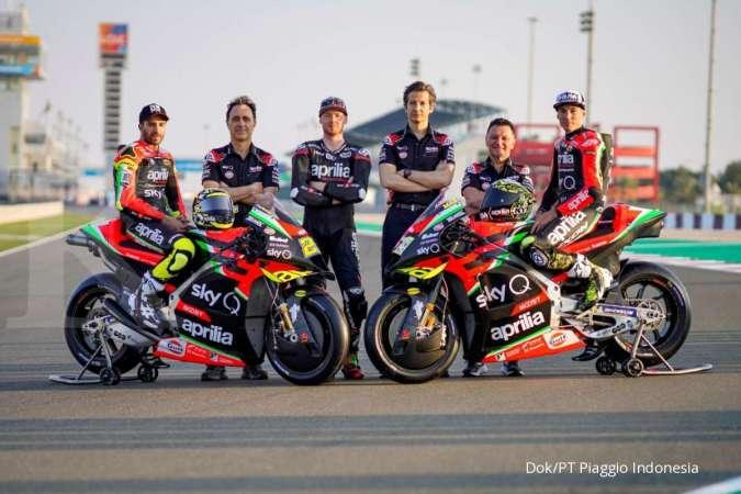 Aprilia juga memulai musim MotoGP 2020 dengan livery baru. (dok. Piaggio Indonesia)