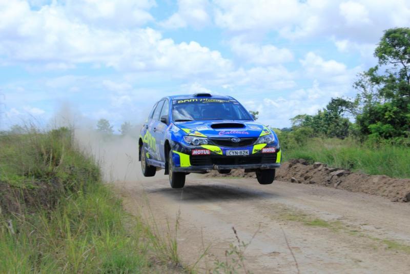 Ryan Nirwan, BRM Bank Sumut Motorsport saat beraksi dengan Subaru WRX andalannya