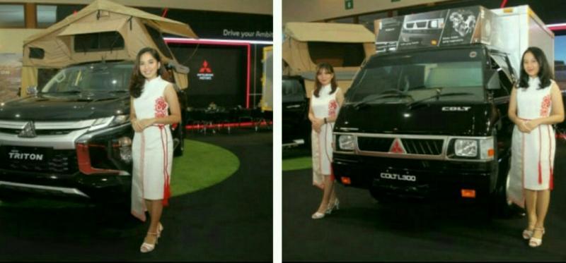 New Triton dan Mitsubishi L300 mengisi line up booth MMKSI di GIICOMVEC 2020 di JCC Jakarta