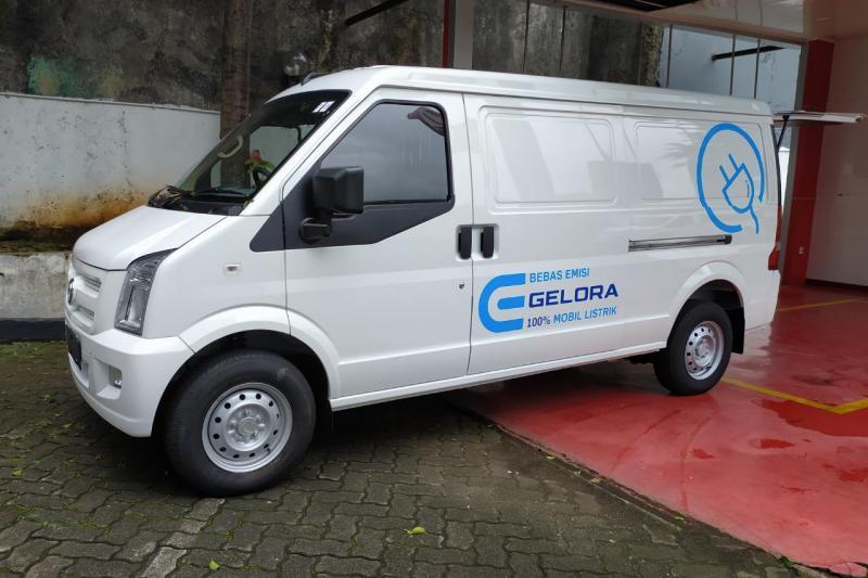 DFSK Gelora E hadir dengan basis teknologi Battery Electric Vehicle (BEV) / Full Listrik dengan beragam keunggulan.(anto)