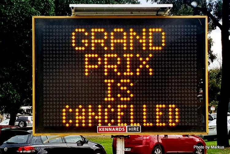 Hanya 4 kata pembatalan GP Australia, tapi konsekuensinya ratusan juta dolar. (Foto: ist)