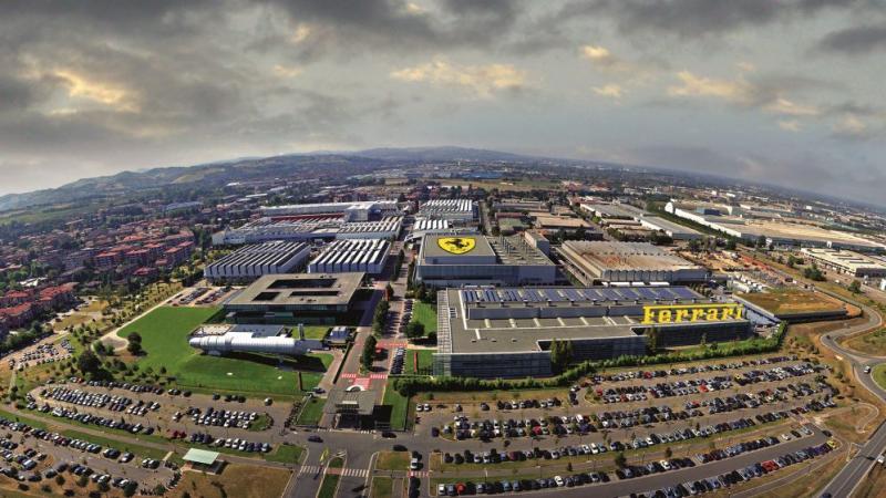 Pabrik Ferrari di Italia, untuk sementara menghentikan produksinya
