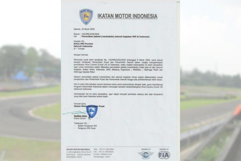 Surat Edaran IMI Pusat Terkait Penundaan Jadwal Motorsport Indonesia