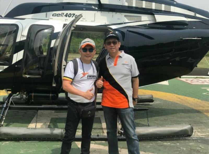 Jimmy Lukita bersama bos ABM Motorsport, Paul F. Montolalu